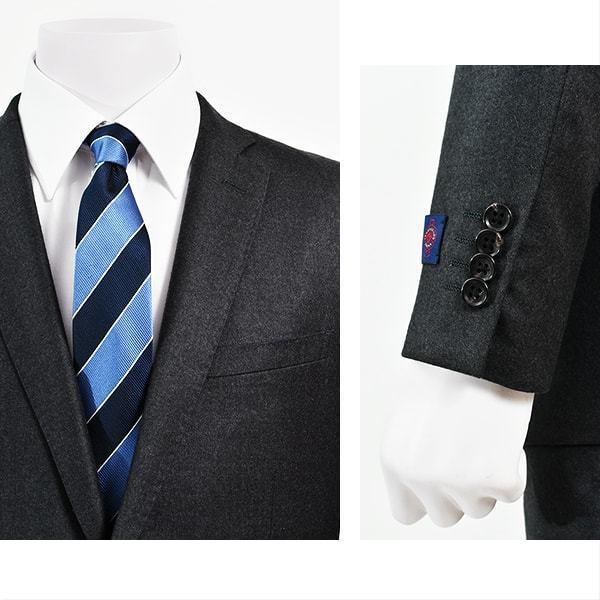 dc ゼニア スーツ メンズ スリム 秋冬 ヘリテイジ 30代/40代/50代 A体 A5/A6 グレー gorgons 04