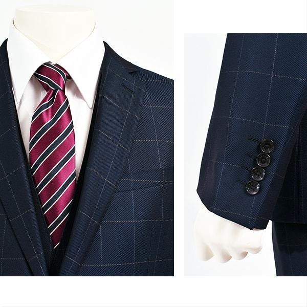 dc レノマ スーツ メンズ スリム 秋冬春 30代/40代/50代  Y体 Y6 ネイビー gorgons 03