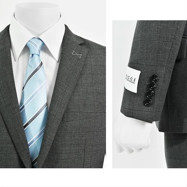 dc フィッチェ スーツ メンズ スリム 春夏 30代/40代/50代  Y体 Y5 グレー gorgons 03