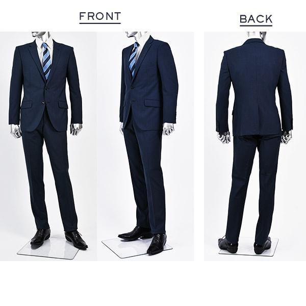 dc フィッチェ スーツ メンズ スリム 春夏 30代/40代/50代  AB体 AB5/AB6 ネイビー|gorgons|02