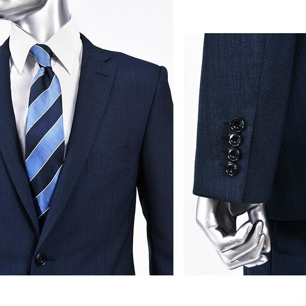 dc フィッチェ スーツ メンズ スリム 春夏 30代/40代/50代  AB体 AB5/AB6 ネイビー|gorgons|03
