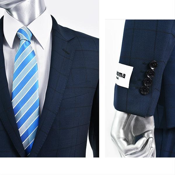 dc レノマ スーツ メンズ スリム 春夏 30代/40代/50代   ネイビー gorgons 03