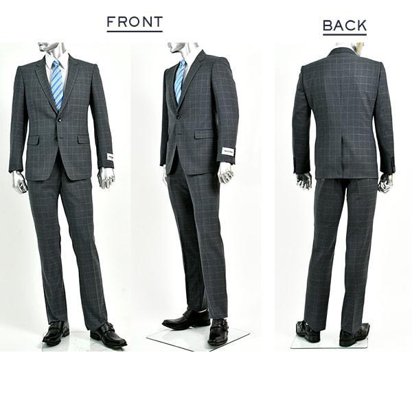 dc レノマ スーツ メンズ スリム 春夏 30代/40代/50代  AB体 AB5 グレー gorgons 02