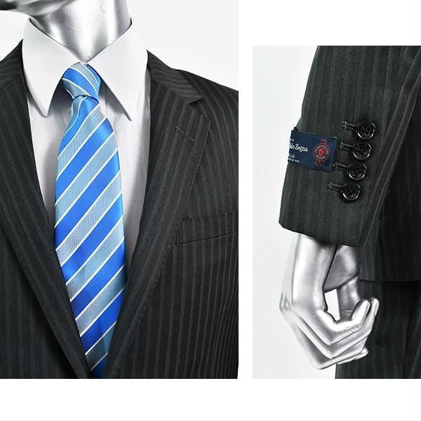 dc ゼニア スーツ メンズ スリム 春夏秋 トラベラー 30代/40代/50代 AB体 AB5/AB6 グレー|gorgons|04
