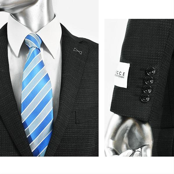 dc フィッチェ スーツ メンズ スリム 秋冬春 30代/40代/50代  AB体 AB4 チャコールグレー|gorgons|03