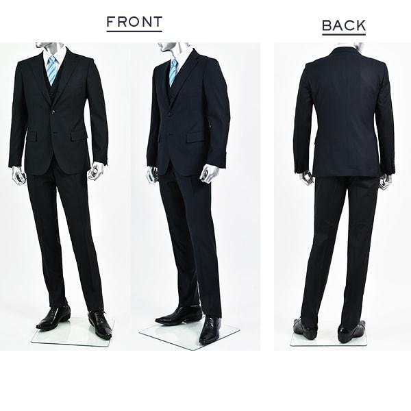 dc フィッチェ スーツ メンズ スリム 春夏 30代/40代/50代  AB体 AB5 ネイビー|gorgons|02