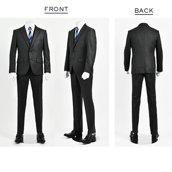 dc フィッチェ スーツ メンズ スリム 春夏 30代/40代/50代  AB体 AB4 チャコールグレー|gorgons|02