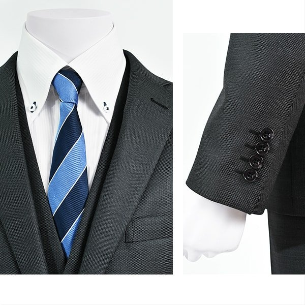 dc フィッチェ スーツ メンズ スリム 春夏 30代/40代/50代  AB体 AB4 チャコールグレー|gorgons|03