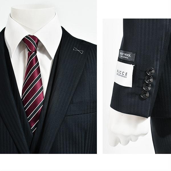 dc フィッチェ スリーピース スーツ メンズ スリム 春夏 30代/40代/50代  Y体 Y5 ネイビー|gorgons|03