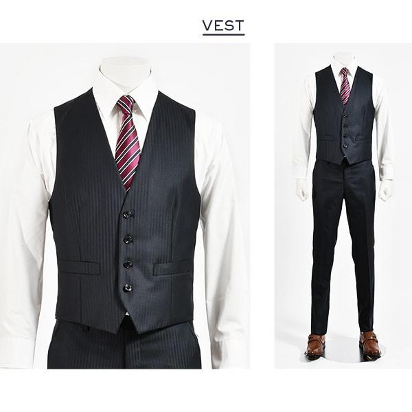 dc フィッチェ スリーピース スーツ メンズ スリム 春夏 30代/40代/50代  Y体 Y5 ネイビー|gorgons|04