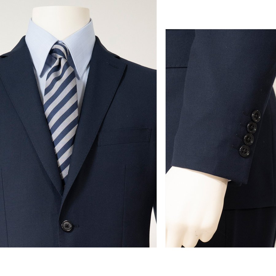 dc ゼニア スーツ メンズ スリム 秋冬春 トラベラー 30代/40代/50代 A体 A4/A5/A6 ネイビー|gorgons|04