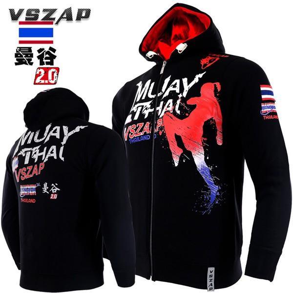 ボクシング トレーニングジャケット フード付き 長袖 スポーツウェア パーカー ジップアップパーカー コンバット トレーニングウェア