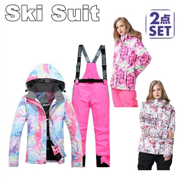 【ラッピング無料】 新生活応援 セール 10% スキーウェア レディース スノーボードウェア スキーウェア スノボ 上下セット ジャケット パンツ 大きいサイズ対応 防寒 撥水 耐水, 【売れ筋】 9f2d50d9