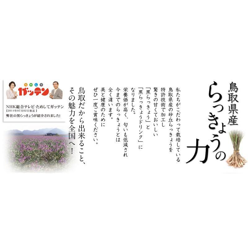 鳥取県産 完熟 黒らっきょう 70g ×1個 無添加 井上農園 産地直送 砂丘 らっきょう ポリフェノール 健康 他のメーカー商品との同梱不可|gottuou-tottori|02