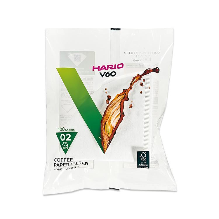 V60用ペーパーフィルター酸素漂白VCF-02 100枚入 ハリオ 新着 HARIO ついに再販開始