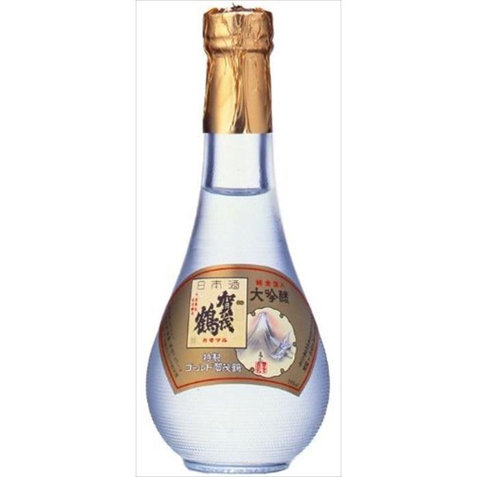 加茂鶴ゴールド丸瓶 180ml|goyougura-okawa