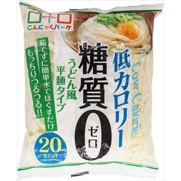 送料無料 ヨコオデイリーフーズ 糖質0うどん風平麺タイプ 蒟蒻 絶品 送料0円 180g×20個 こんにゃく麺
