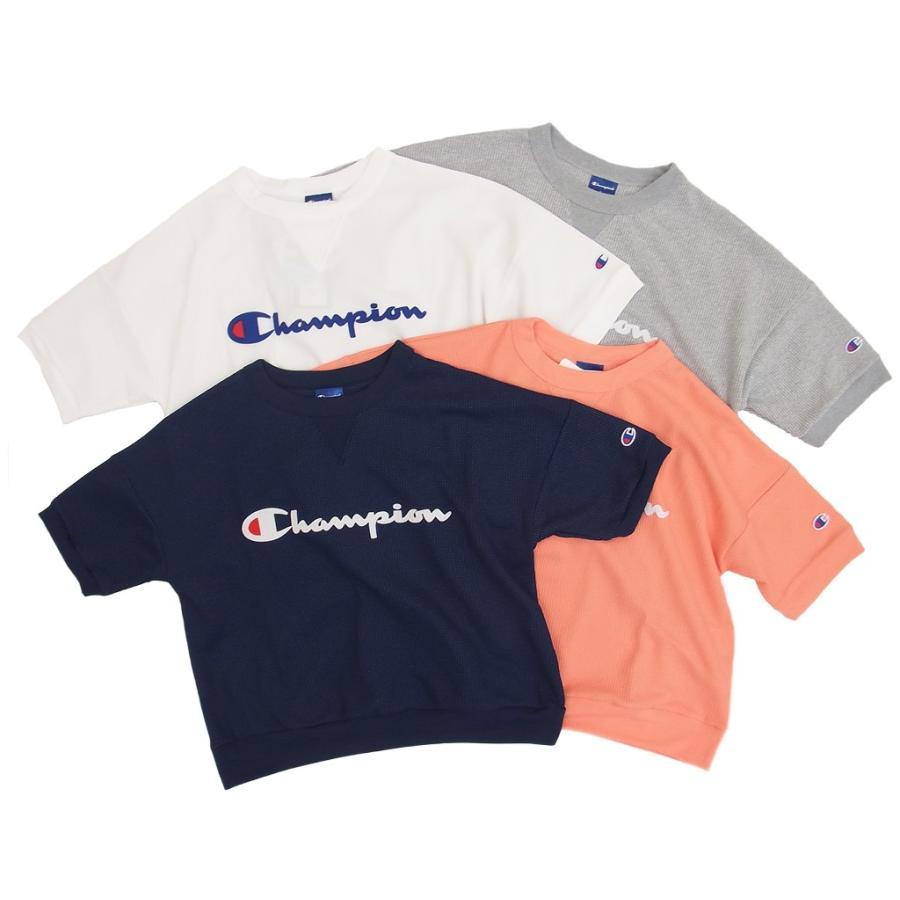 Champion チャンピオン レディース 半袖 Tシャツ カットソー クルーネック UVカット gpstore