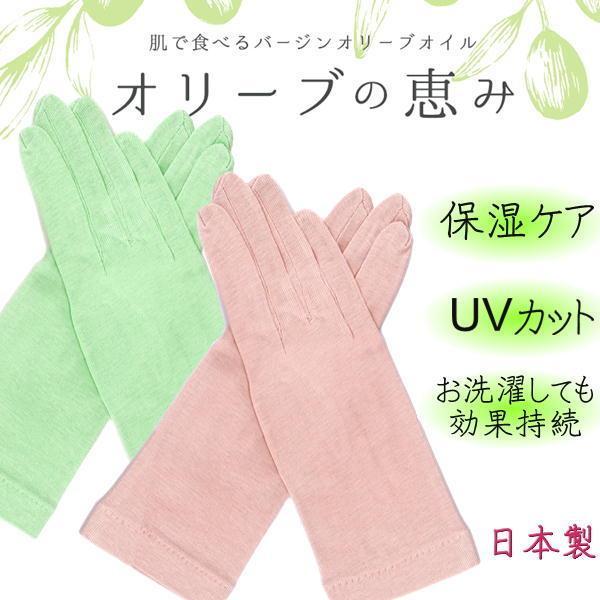手袋手荒れ保湿ケア UVケア メロン オリーブの恵み オリーブファイバー|graceofgloves