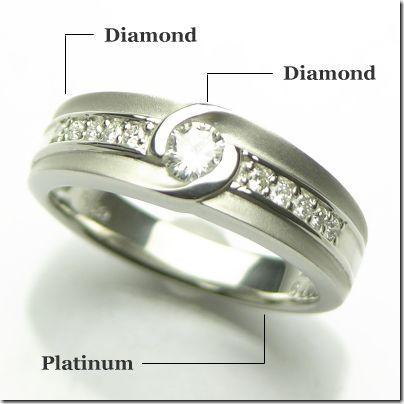 【予約受付中】 プラチナ ダイヤモンド 艶消しと艶あり ユニセックスリング, コトウラチョウ d35613d6