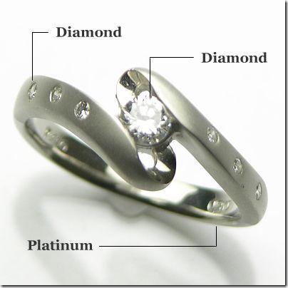 【2018最新作】 PT900プラチナ ダイヤモンド 艶消し 艶あり 高級リング, タカサキシ 42835719