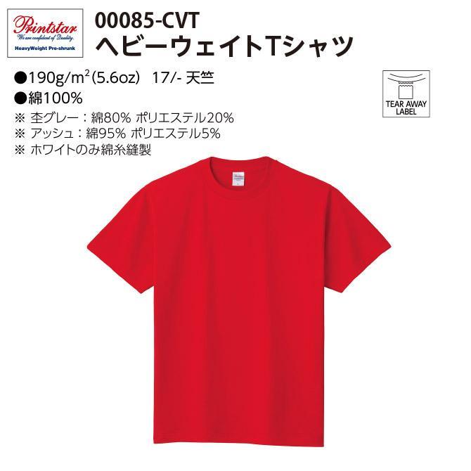 Tシャツ メンズ レディース 半袖 厚手 無地 Printstar プリントスター 5.6オンス ヘビーウェイトTシャツ grafit 02