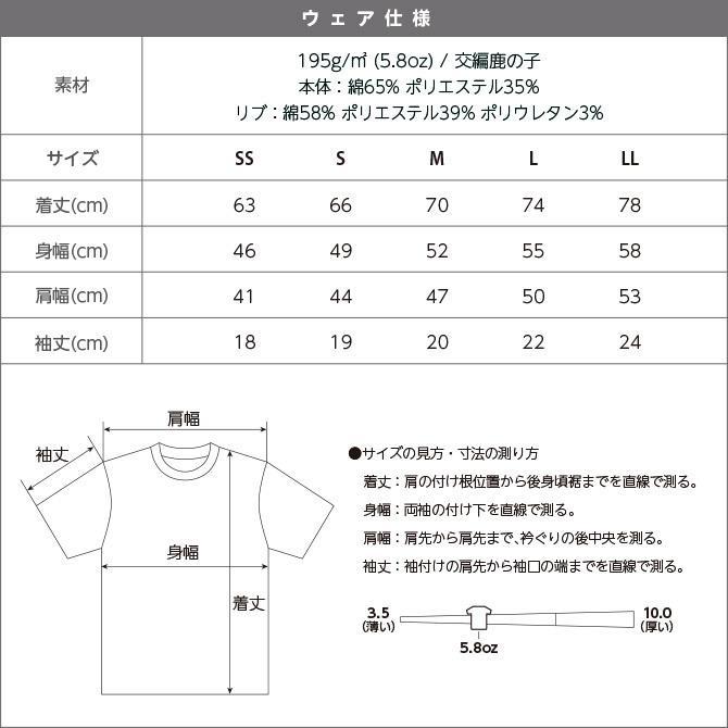 Tシャツ メンズ レディース 半袖 鹿の子 無地 Printstar プリントスター 5.8オンス T/CクルーネックTシャツ grafit 14