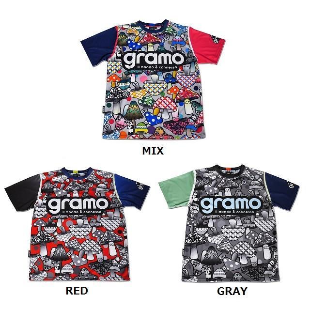 グラモ gramo『KINOKO』昇華プラクティスシャツ P-025