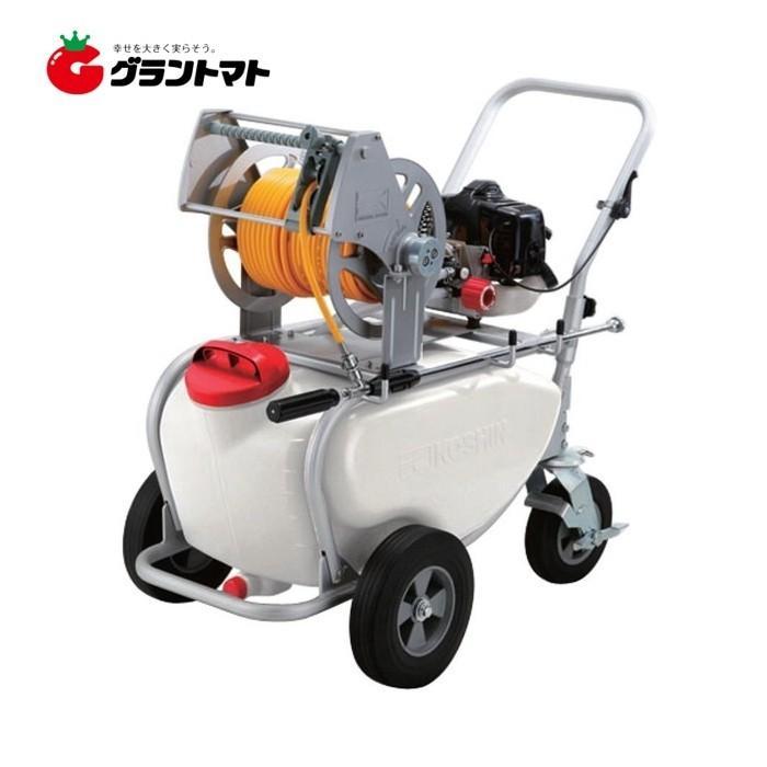 【訳あり】ガーデンスプレーヤー ES-50T 50L タンクキャリー付エンジン動噴 工進