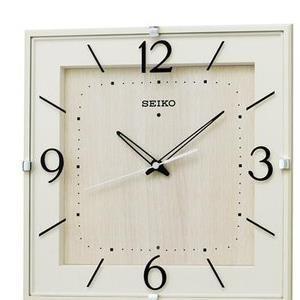 【5セット】 SEIKO 電波掛時計 アイボリー塗装 KX398A [KX398A] お取り寄せ[10000円アマゾンギフト付]