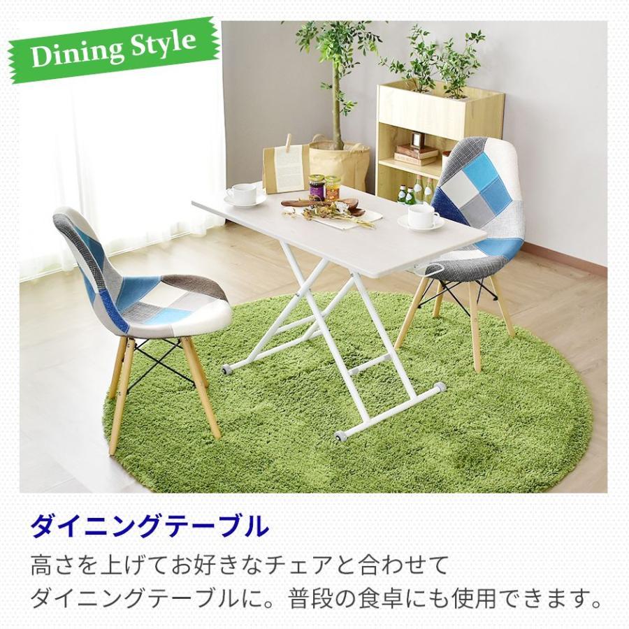 昇降テーブル 大理石風 おしゃれ ガス圧 リフトテーブル 幅100cm 昇降式 テーブル ミランダ100×55 北欧 プレゼント grazia-doris 14