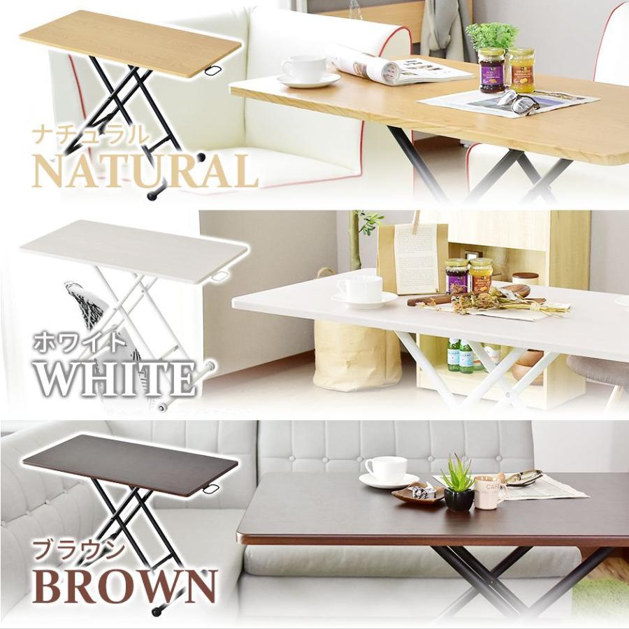 昇降テーブル 大理石風 おしゃれ ガス圧 リフトテーブル 幅100cm 昇降式 テーブル ミランダ100×55 北欧 プレゼント grazia-doris 18
