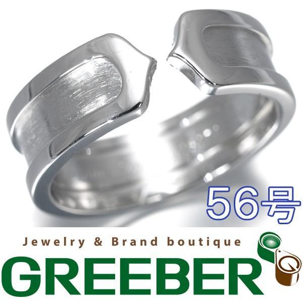 【受注生産品】 カルティエ リング 指輪 2C K18WG 56号BLJ, ノツケグン c2b149a8