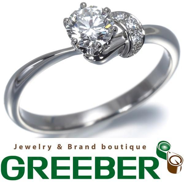 最高品質の 俄 ニワカ リング 指輪 ダイヤ ダイヤモンド 0.37ct G VVS1 3EX 茜 Pt950/プラチナ 9号 鑑定書BLJ/GENJ, 分水町 303419ac