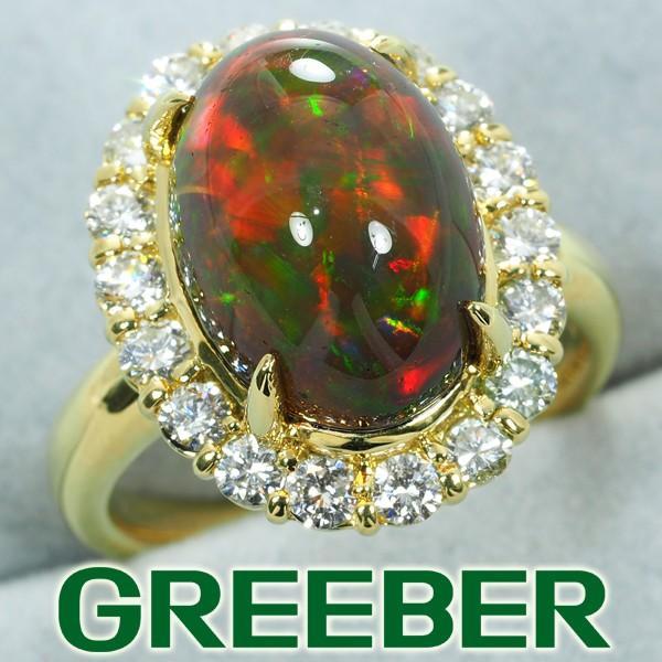 超激安 オパール 4.558ct ダイヤ ダイヤモンド 0.717ct リング 指輪 K18YG GENJ 限界値下げ品, ミントマジック/養生庵 a086a827