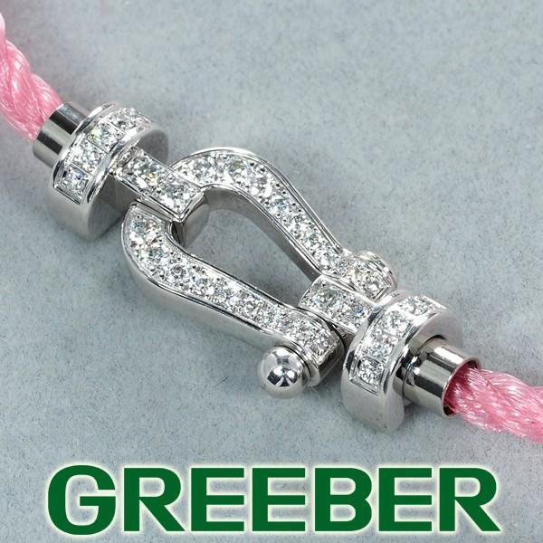 【感謝価格】 フレッド ブレスレット ダイヤ ダイヤモンド フル フォース10 MM テキスタイルケーブル ペールピンク 15刻印 K18WG BLJ, Flower 18d4986d