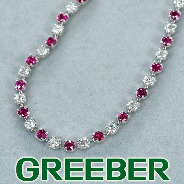 全日本送料無料 上質ルビー 1.24ct ダイヤ ダイヤモンド 1.01ct ブレスレット Pt850/プラチナ GENJ, 日本酒ギフトおつまみのミツワ酒販 5a96c808