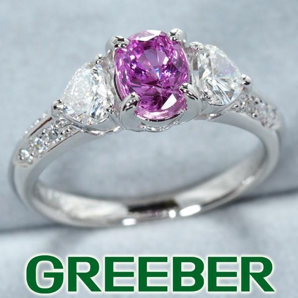 人気ブランドの パープルサファイア 1.090ct ダイヤ ダイヤモンド 0.45ct リング 指輪 Pt900/プラチナ ソーティング GENJ, ストレイン 31b1f9fa