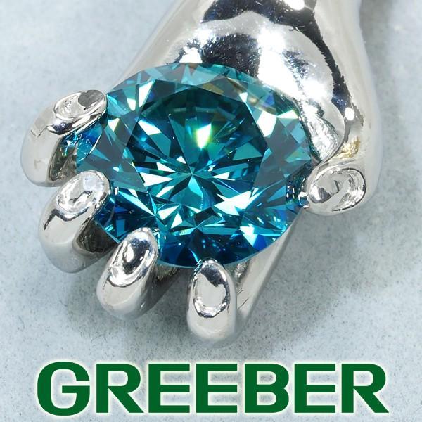 【在庫僅少】 超大粒4.08ct ブルー&クリアダイヤ ダイヤモンド 0.41ct ペンダントトップ Pt900/プラチナ/K18YG GENJ 大幅値下げ品, ミナミカンバラグン 94b9b85e
