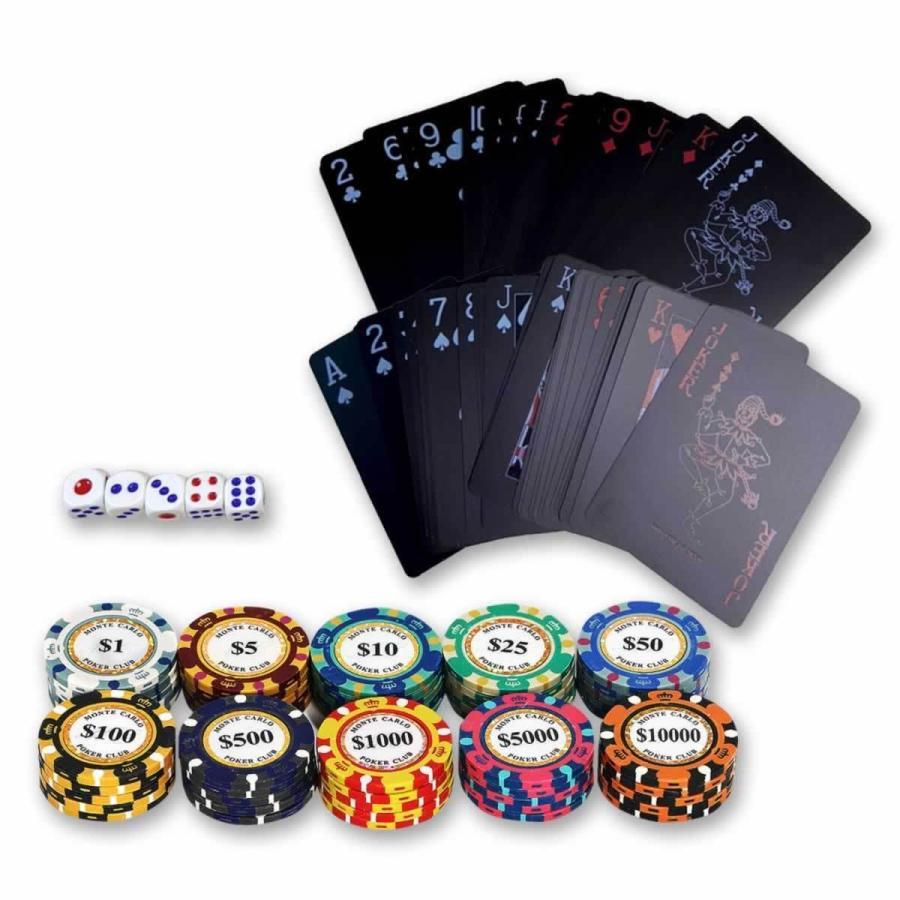 ポーカーゲーム ポーカーチップ モンテカルロ ポーカー チップ カジノゲーム 10種 50枚セット ゲーム チップ カジノ ポイント消化 greedtown 03