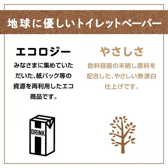地域限定☆送料無料 トイレットペーパー まとめ買い ピュアブラウン ダブル 64ロール(8ロール×8パック)ダブル 丸富製紙 2763|green-consumer-shop|03