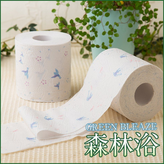 地域限定☆送料無料 トイレットペーパー Hanataba グリーンブリーズ 森林浴 ダブル フレッシュグリーンの香り 丸富製紙 2632|green-consumer-shop