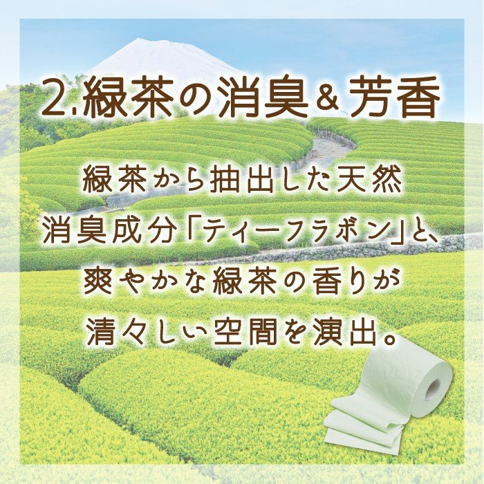 地域限定☆送料無料 トイレットペーパー まとめ買い 緑茶の力プレミアム 3枚重ね 12ロール 6パック入り(72ロール) 丸富製紙 2868 green-consumer-shop 04