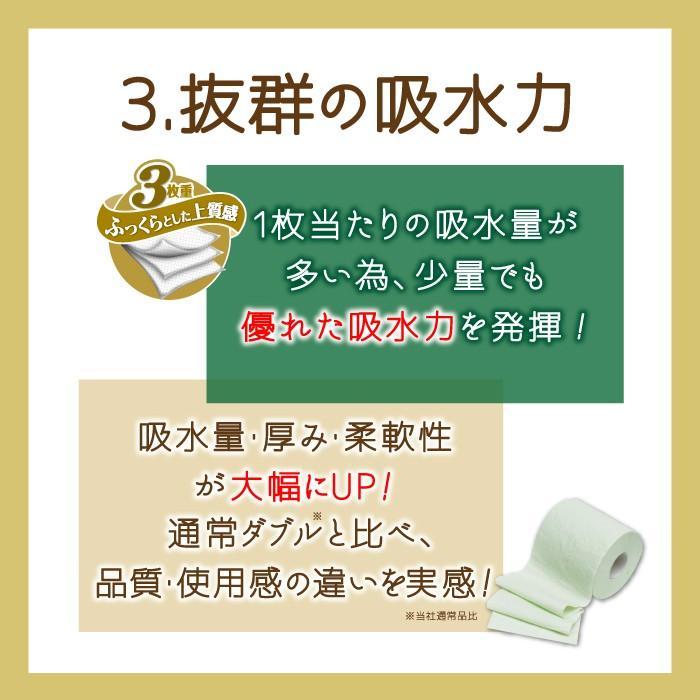 地域限定☆送料無料 トイレットペーパー まとめ買い 緑茶の力プレミアム 3枚重ね 12ロール 6パック入り(72ロール) 丸富製紙 2868 green-consumer-shop 05