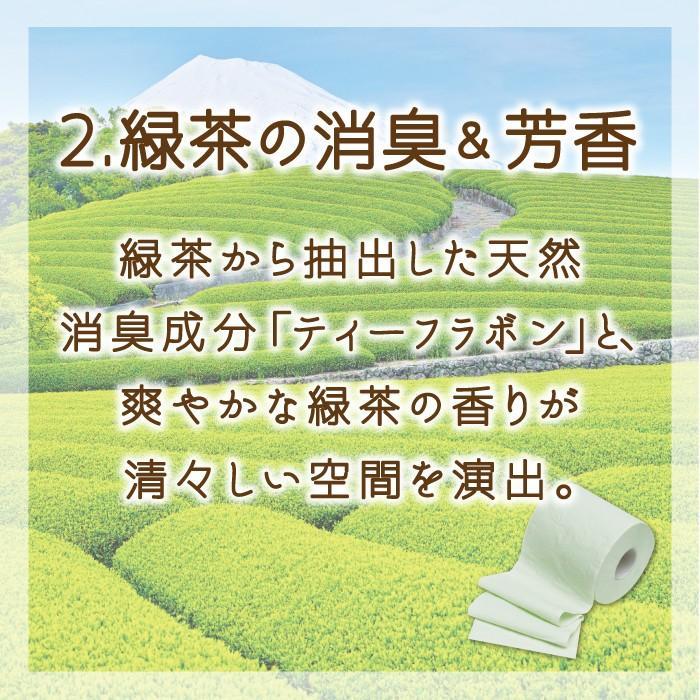 地域限定☆送料無料 初回限定価格 トイレットペーパー まとめ買い 緑茶の力プレミアム 30年のロングセラーが進化(3枚重ね)丸富製紙 2473|green-consumer-shop|04