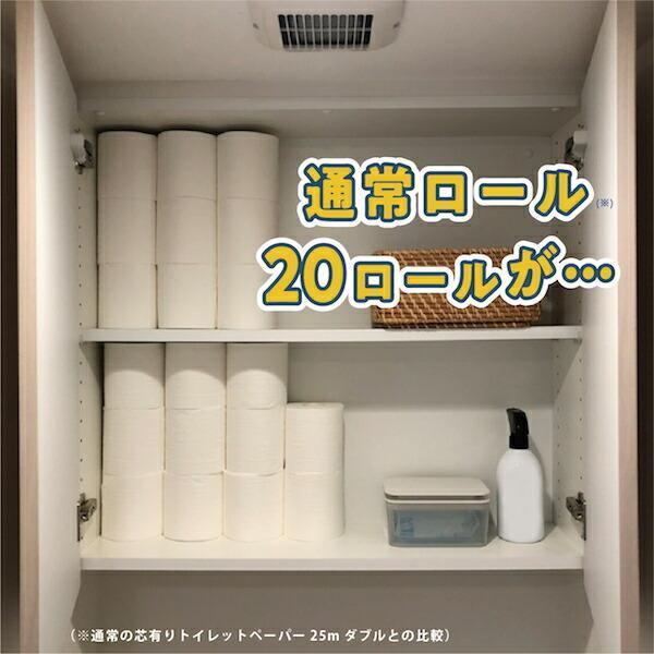 5倍 長巻き シングル 地域限定☆送料無料 トイレットペーパー 再生紙 250m ペンギン 芯なし超ロング お求めやすい 16ロール 備蓄 丸富製紙 2827|green-consumer-shop|02