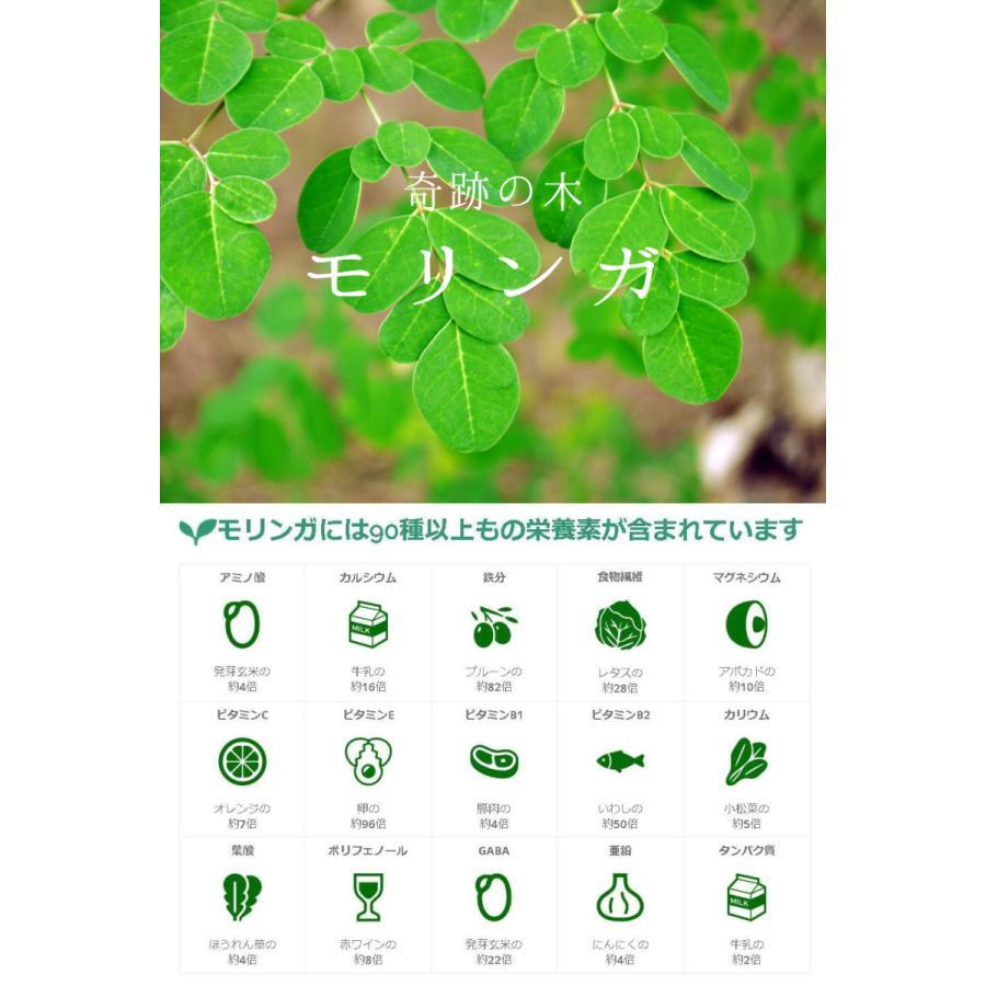 【グリーンモリンガ】モリンガカプセル(500mg×200カプセル) 葉100% スーパーフード 驚異的なGABA含有量 サプリメント 無農薬 無添加 奇跡の木|green-moringa|05