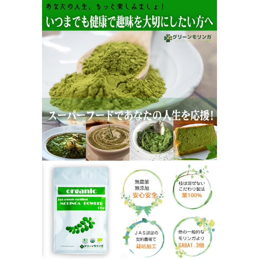 無農薬・無化学肥料のモリンガ葉100%使用・有機JAS認証(オーガニック)モリンガパウダー110g green-moringa 02