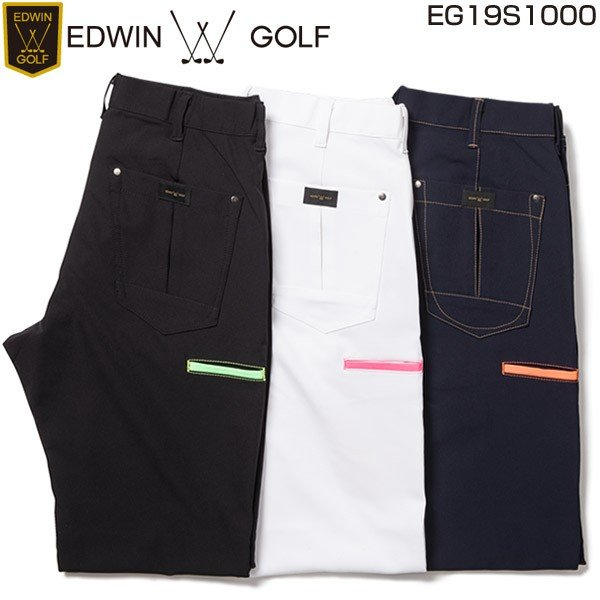 エドウィン ゴルフ パンツ メンズウェア レギュラー スリムテーパード ロングパンツ EG19S1000 2019年春夏モデル M-LL