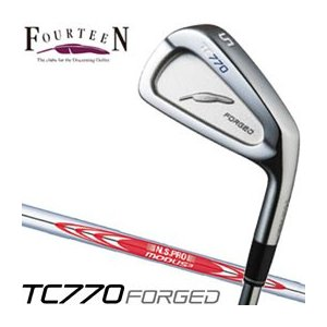フォーティーン TC770 FORGED アイアン N.S.PRO MODUS3 TOUR 105シャフト 6本セット(#5-P)